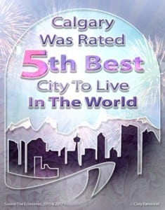 Calgary Alberta 5th best city to live in the world infographic