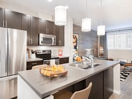 no6 chalet copperstone se calgary townhomes interior kitchen