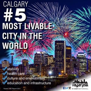Calgary fifth most livable city in the world infographic
