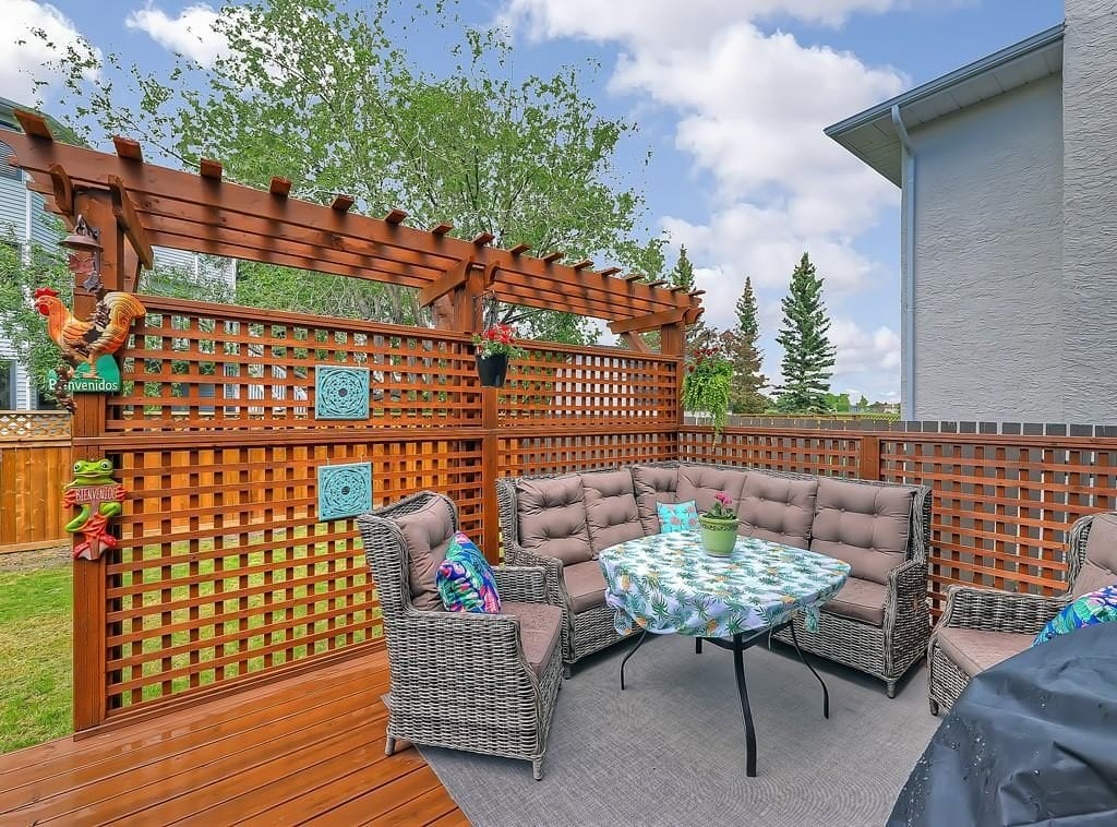 hawkwood home for sale patio space view 98 hawkstone drive nw